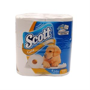 Foto PAPEL HIGIENICO DOBLE HOJA 4X30MTS SCOTT GOLD de