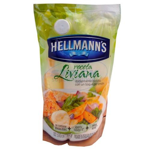 MAYONESA HELLMANNS RECETA LIVIANA 500GR