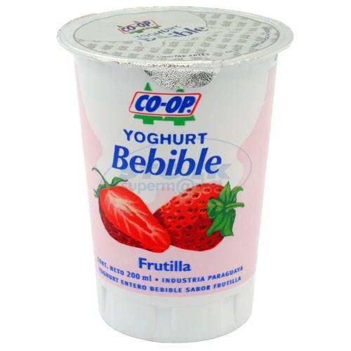 Foto YOGURT COOP ENTERO BEBIBLE FRUTILLA 200ML de
