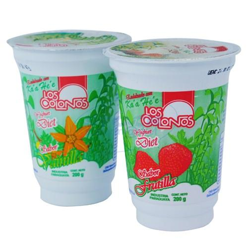 Foto YOGURT DIET. LOS COLONOS POT 200GR VAINILLA/FRUTILLA de