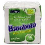 Foto SERVILLETA BAMBINO PAQUETE 50 UN 24X22 de