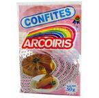 Foto CONFITES PLATEADOS ARCO IRIS PAQUETE 50 GR de
