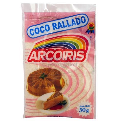 Foto COCO RALLADO ARCO IRIS PAQUETE 50GR de