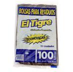 Foto BOLSA EL TIGRE PARA RESIDUOS ECON 100LT X 10UN de