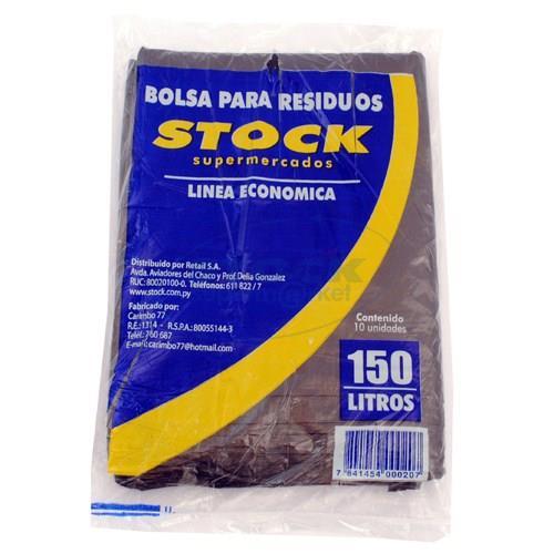 Foto BOLSA PARA RESIDUOS STOCK ECONOMICA 150 LITROS 5 UNIDADES de