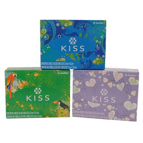 Foto PAÑUELO DESECHABLE KISS CAJA 100UN de