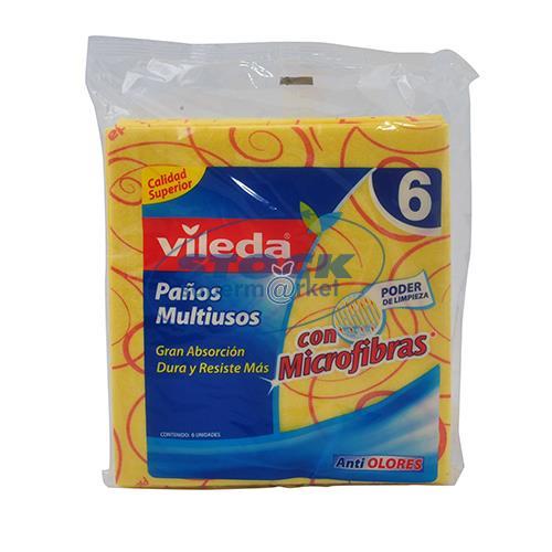 Foto PAÑOS MULTIUSOS CON MICROFIBRAS 6UNID VILEDA BSA de