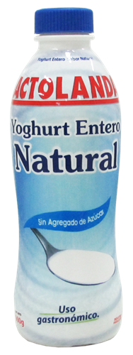 Foto YOGURT ENTERO NATURAL 900GR LACTOLANDA POTE de