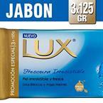 Foto JABON D/TOCADOR FRESCURA IRRESISTIBLE 3UND 125GR LUX BSA de