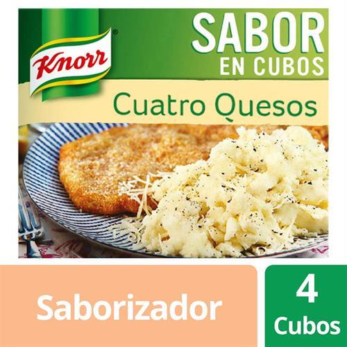 Foto CALDOS CUATRO QUESO CUBOS 38 GR KNORR CJA de