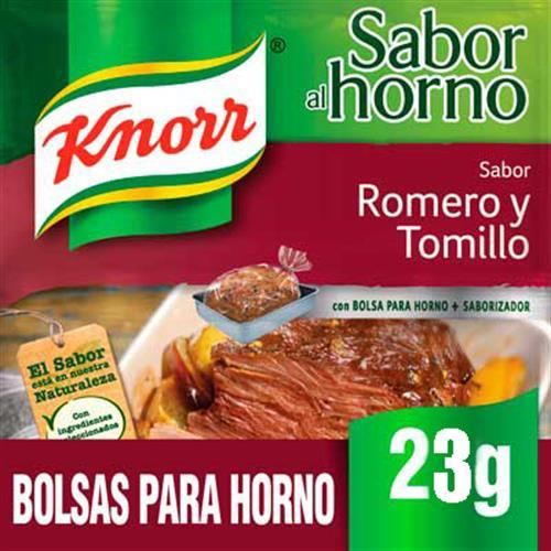 Foto SAZON CARNE C/ROMERO Y TOMILLO 23G KNORR PAQ de