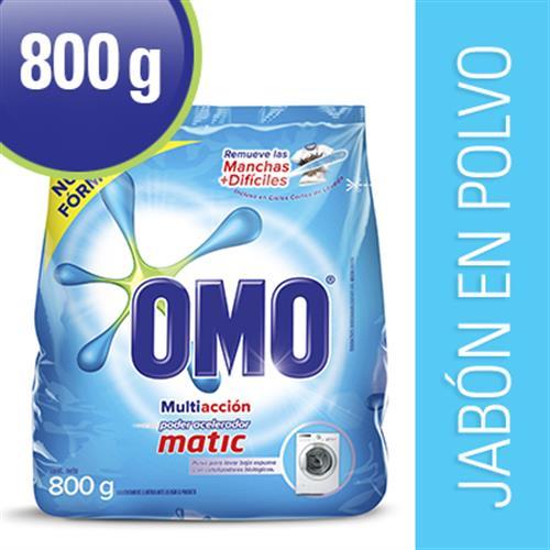 Foto JABON E/POLVO MATIC BAJA ESPUMA 800GR OMO PAQ de