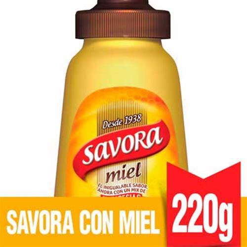 Foto MOSTAZA C/MIEL 220GR SAVORA FCO de