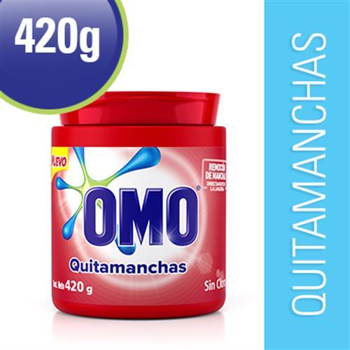 Foto QUITAMANCHAS E/POLVO P/ROPA COLOR 420GR OMO POTE de