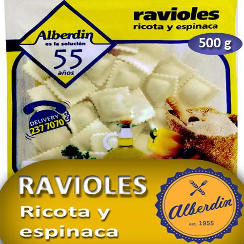 RAVIOLES D/RICOTA Y ESPINACA 500GR ALBERDIN PAQ