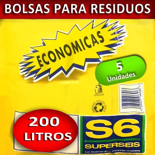 Foto BOLSA SUPERSEIS P/RESIDUO ECON 200 LT de