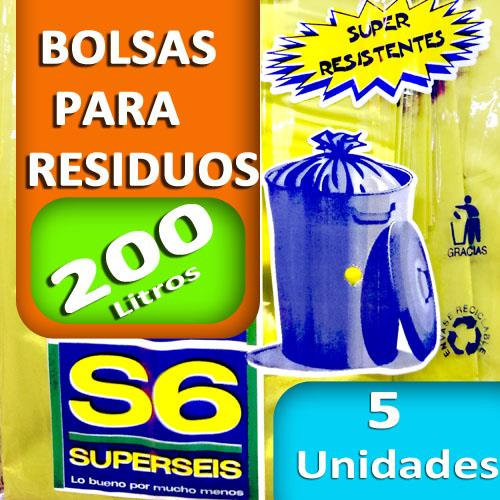 Foto BOLSA SUPERSEIS RESIDUO EXT/RES 200 LT de