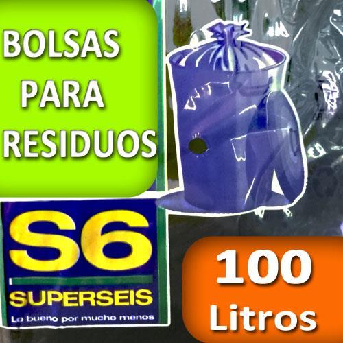 Foto BOLSA SUPERSEIS P/RESIDUO ECON 100LT de