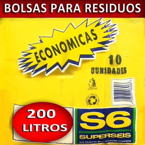 Foto BOLSA SUPERSEIS P/RESIDUO ECON.200 LT de