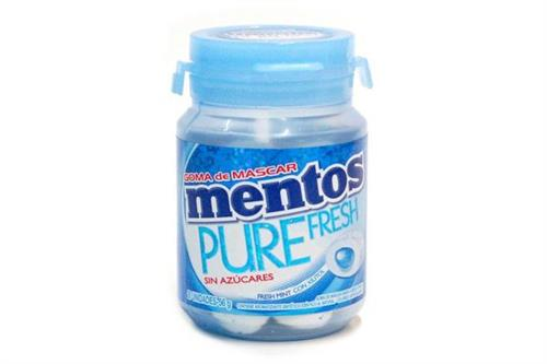 Foto CHICLE FRESH MINT 56 GR MENTOS POT de