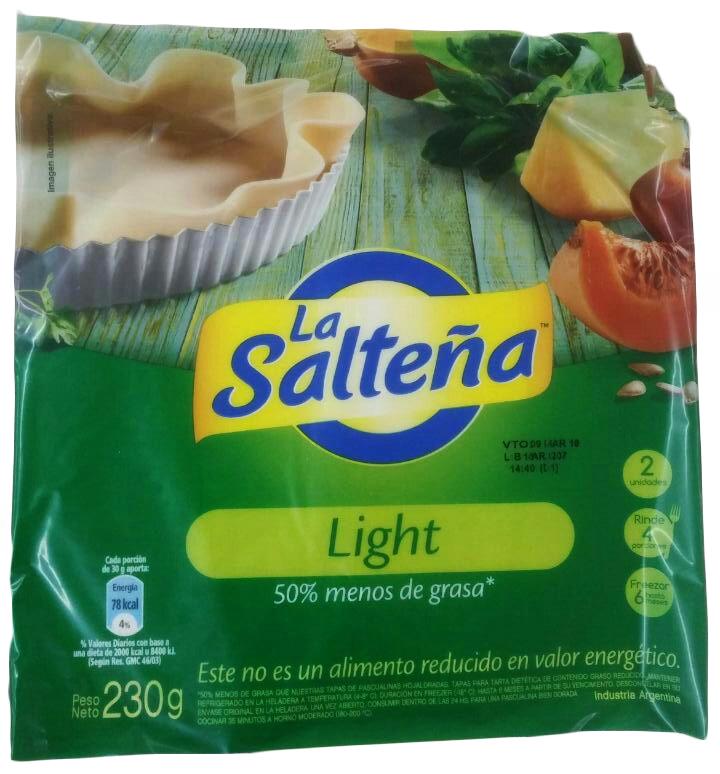 TAPA P/PASCUALINA LIGHT 230GR LA SALTEÑA PAQ