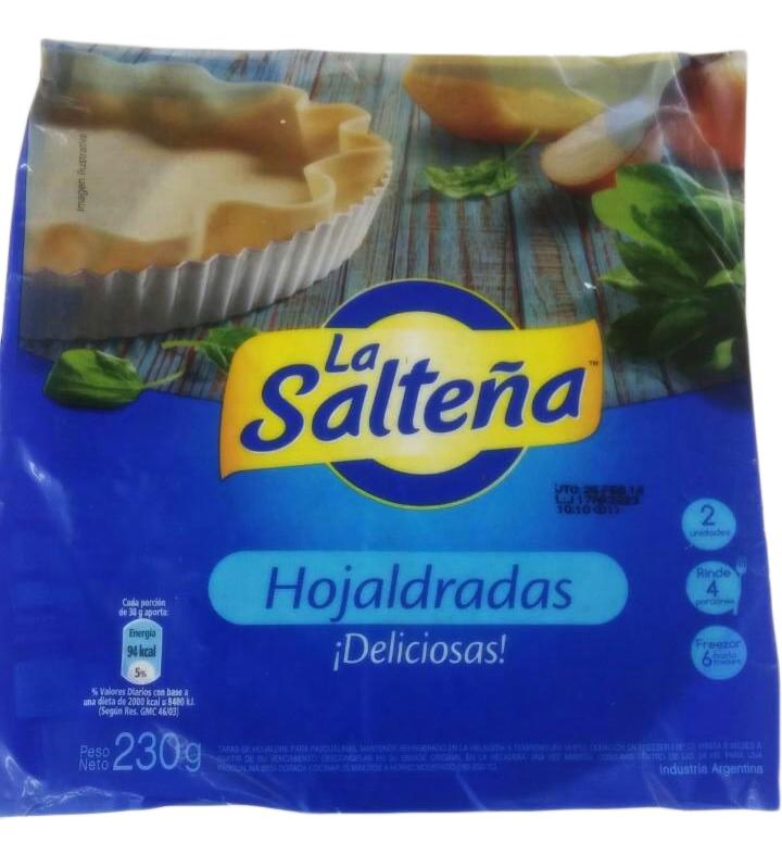 TAPA P/PASCUALINA HOJALDRADA 230GR LA SALTEÑA PAQ