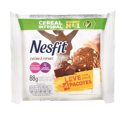 Foto GALLETITA INTEGRAL D/CHOCOLATE C/CEREALES 88GR NESFIT PAQ de