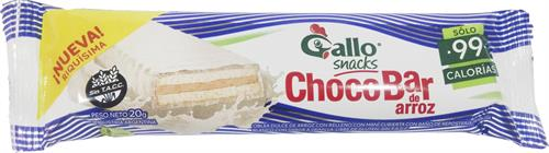 Foto CHOCOBAR BLANCO DE ARROZ 20 GR GALLO de
