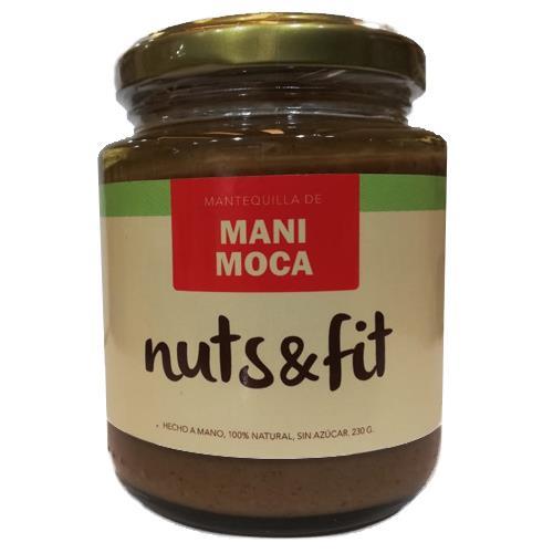 Foto MANTEQUILLA DE MANI MOCA 230GR NUTS Y FIT FCO de