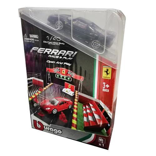 Foto PISTA FERRARI 143 RACE  PLAY OPEN  PLAY SET BBURAGO CJA de