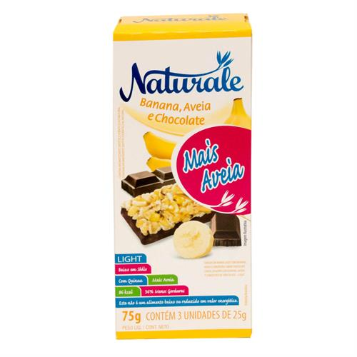 Foto BARRA CEREAL LIGHT BANANA/AVENA Y CHOCOL. 25GRX3UN NATURALE CAJA de