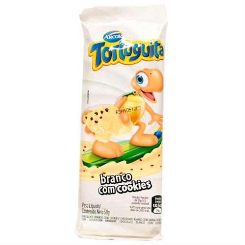 Foto CHOCOLATE TABLETA BLANCO C/COOKIES TORTUGUITA ARCOR 50GR de