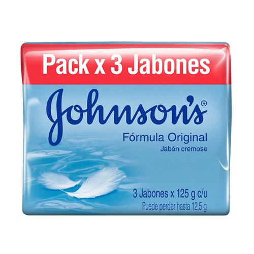 Foto JABON D/TOCADOR ORIGINAL 3X125GR JOHNSONS PACK de