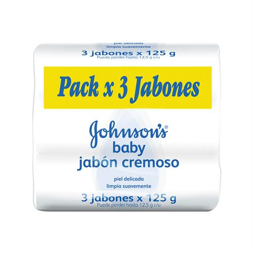 Foto JABON D/TOC ORIG 3 X 125GR JOHNSONS BABY PACK de