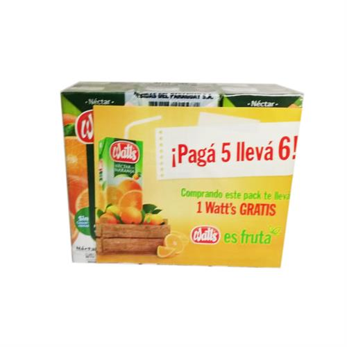 Foto PACK WATTS NECTAR NARANJA 6 X 200ML de