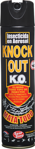 Foto INSECTICIDA MATATODO 330ML KNOCK OUT AER de
