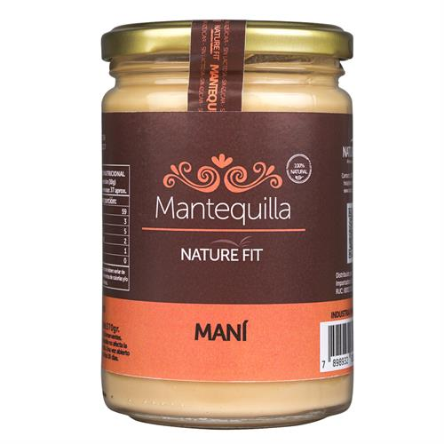 Foto MANTEQUILLA DE MANI 370GR NATURE FIT de