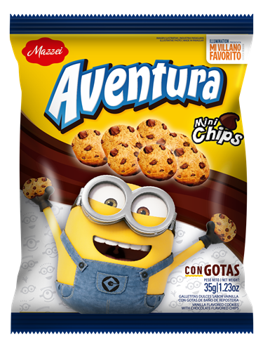 Foto GALLETITAS DULCES MINI CHIPS 35GR AVENTURA BSA de