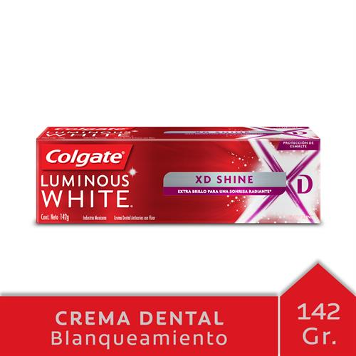 Foto CREMA DENTAL COLGATE LUMINOUS WHITE XD SHINE 142GR CJA de