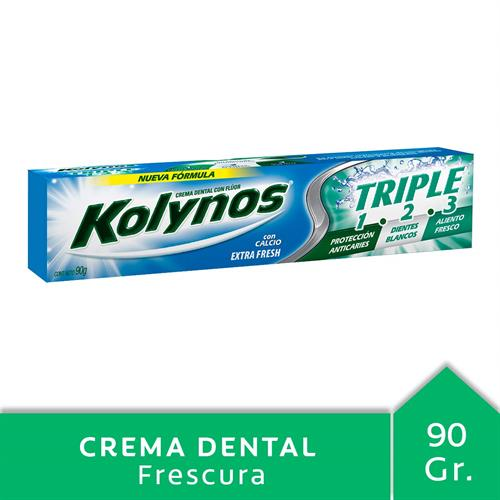 Foto CREMA DENTAL EXTRA FRESH C/ CALCIO TRIPLE  90 GR KOLYNOS   de