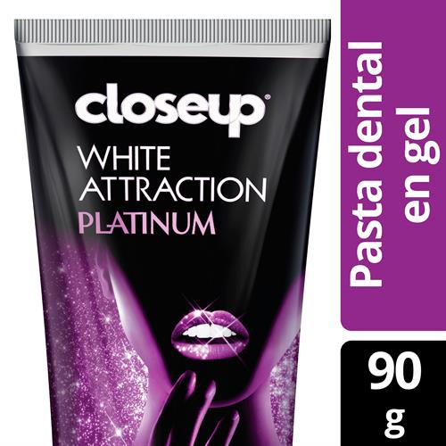 Foto CREMA DENTAL WHITE ATTRACTIONPLATINUM90GR CLOSE UP CJA  de