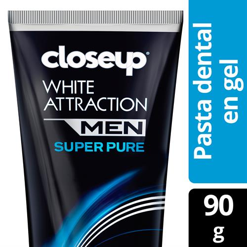 Foto CREMA DENTAL WHITE ATTRACTIONMEN SUPER PURE90G CLOSE UP CJA  de