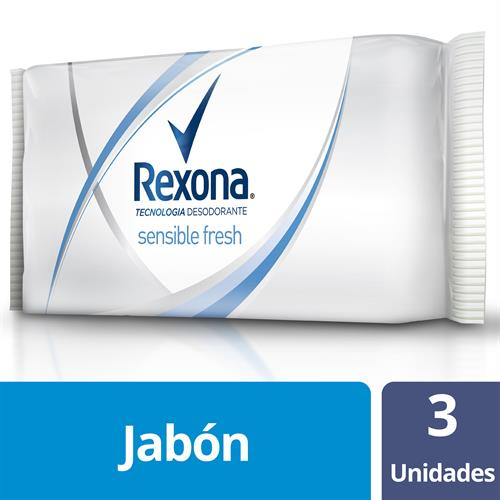 Foto JABON TOCADOR SENSIBLE FRESH 3UN 125GR REXONA PAQ de