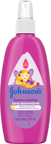 Foto SPRAY P/PEINAR FUERZA Y VITAMINA 200ML JOHNSONS FCO de