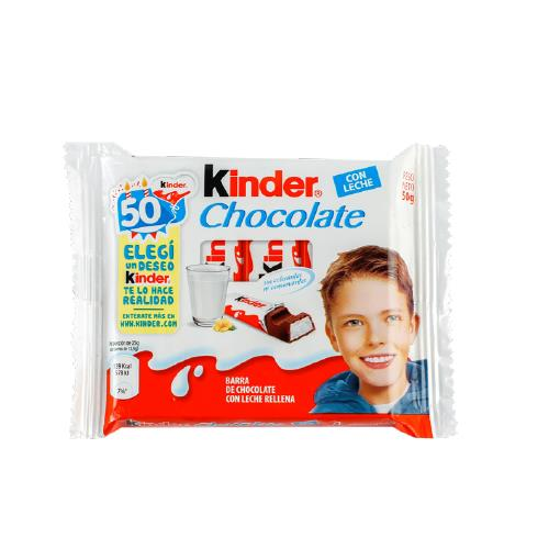 Foto CHOCOLATE C/ LECHE 50GR KINDER de
