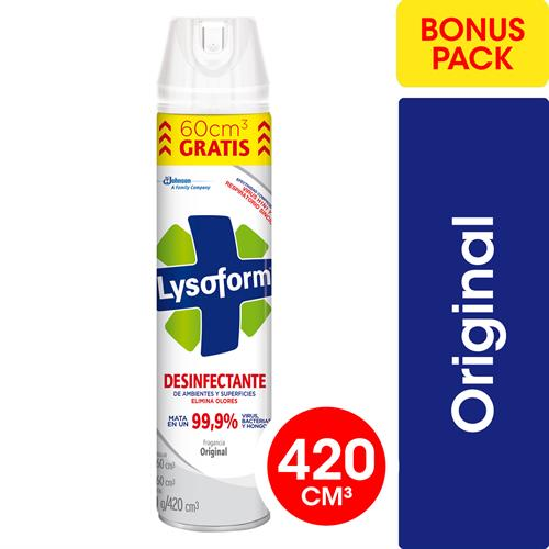 Foto DESINFECTANTE D/ AMBIENTE ORIGINAL 420ML LYSOFORM AER  de