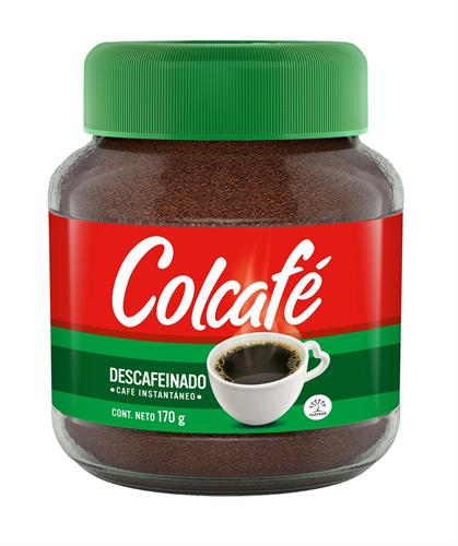 Foto CAFE SOLUBLE DESCAFEINADO 85GR COLCAFE FCO de