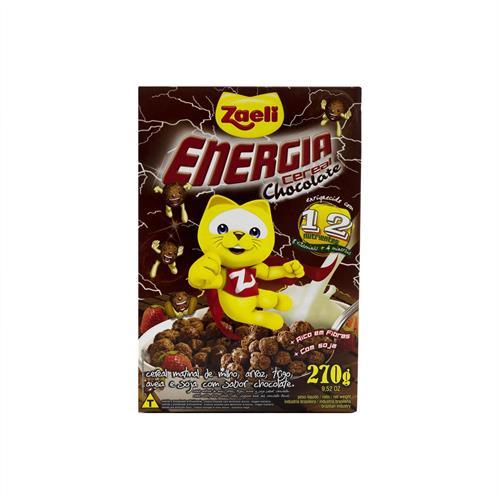 Foto CEREAL MATINAL ENERGIA CHOCOLATE 270GR ZAELI CJA de