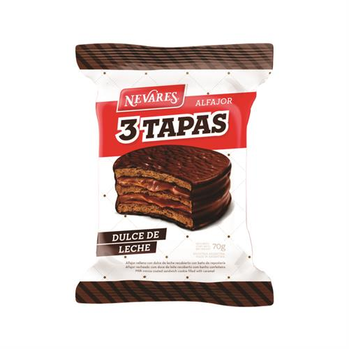 Foto ALFAJOR NEVARES TRIPLE NEGRO 24X70G. de