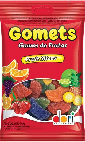 Foto CARAMELO GOMA DORI FRUIT SLICES BSA 190 GR de
